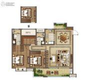 云樾东方3室2厅2卫133平方米户型图