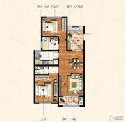 九洲金东方2室2厅2卫101平方米户型图