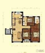 金域明珠3室2厅2卫130平方米户型图