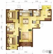 万科金域缇香2室2厅1卫100平方米户型图