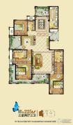 龙湖龙誉城3室2厅3卫225平方米户型图