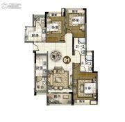 富力伯爵山3室2厅2卫114平方米户型图