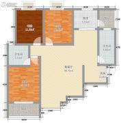 中元水韵尚品3室2厅2卫111平方米户型图