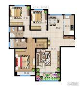 远洋・新天地3室2厅2卫143平方米户型图
