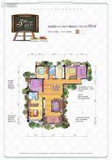 汉华城甜心广场5室2厅2卫169平方米户型图