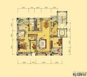 益田枫露3室2厅2卫136平方米户型图