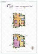 汉华城甜心广场4室2厅3卫156平方米户型图