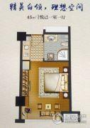 紫金江景苑1室1厅1卫45平方米户型图