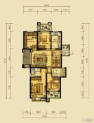 翰林世家4室2厅2卫132平方米户型图