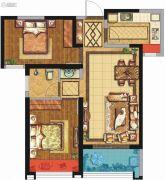 荣民宫园学府2室2厅1卫80平方米户型图