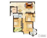 亚星江南小镇3室2厅1卫110平方米户型图
