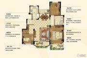 金浦翡翠谷3室2厅2卫108平方米户型图