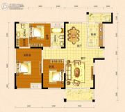 景苑花园3室2厅2卫129平方米户型图