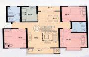 凯能佳苑3室2厅2卫141平方米户型图