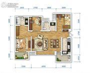 万科金域东岸3室2厅2卫98平方米户型图