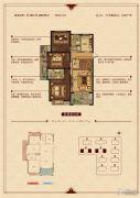 华锦锦园3室2厅2卫105--108平方米户型图
