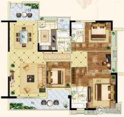 天悦湾4室2厅3卫125平方米户型图