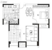 海岸城・郦园1室2厅1卫71平方米户型图