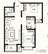 众美凤凰台意风2室2厅1卫0平方米户型图