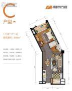顺德汽车产业园2室1厅1卫66平方米户型图