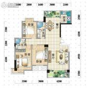 明珠广场3室2厅2卫125--137平方米户型图