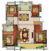 银亿东城4室2厅2卫131平方米户型图