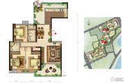 美景嘉园3室2厅2卫164平方米户型图