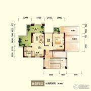 峨眉半山七里坪2室2厅2卫58平方米户型图