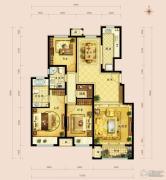 金地朗悦3室2厅2卫122--126平方米户型图