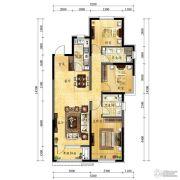 中海国际社区3室2厅1卫116平方米户型图