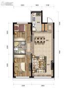 汇置尚都2室2厅1卫80--82平方米户型图