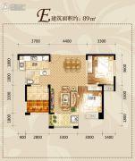滨湖・阳光里2室2厅1卫89平方米户型图