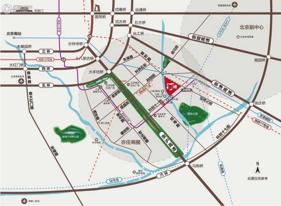 北京经开·汀塘区位图