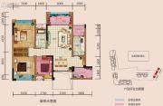 中央首座3期银座3室2厅1卫122平方米户型图