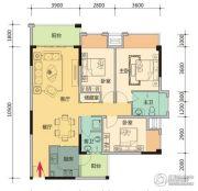 玉柴第壹城2室2厅1卫81平方米户型图