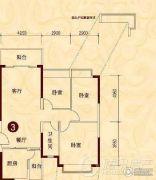贵阳恒大城3室2厅1卫0平方米户型图
