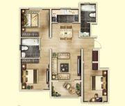 亚龙湾东湖3室2厅2卫98--106平方米户型图