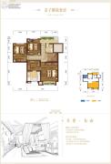碧桂园保利云禧3室0厅2卫0平方米户型图