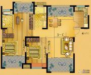 中南世纪城3室2厅2卫118平方米户型图