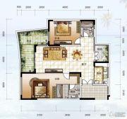 龙光阳光海岸2室2厅2卫140平方米户型图