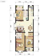 山海城邦・马街摩尔城3室2厅2卫117平方米户型图