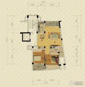 绿城蔚蓝公寓2室2厅1卫103平方米户型图