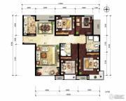 中建国际港4室2厅2卫144平方米户型图