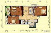 翌琦新印象3室1厅1卫101平方米户型图
