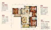 中海琴台华府4室2厅2卫138平方米户型图