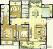 聚湖雅苑3室2厅2卫127平方米户型图