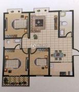 广厦黄金花园3室2厅2卫131平方米户型图