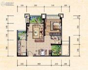 珠江城1室2厅0卫54平方米户型图