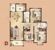爱法山水国际3室2厅2卫137平方米户型图