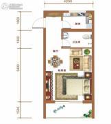 金和大厦1室1厅0卫53平方米户型图